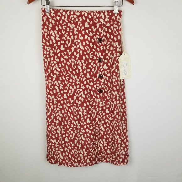 Band of Gypsies Dresses & Skirts - NWT Band Of Gypsies Love Her Madly Printed Skirt